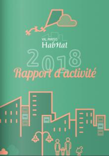 Couverture du rapport d'activités 2018