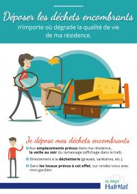 Affiche sur les déchets encombrants